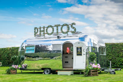 vintage airstream photo booth hire
